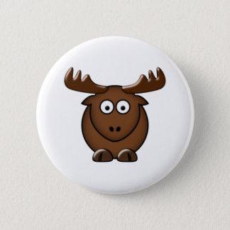 Moose moose 6 cm round badge
