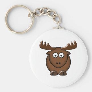 Moose moose key ring