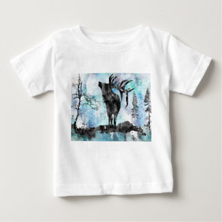 Moose, moose print, watercolor moose baby T-Shirt