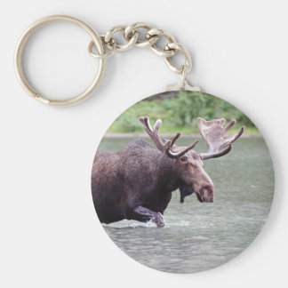 Moose on a Mission Key Ring