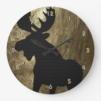 Moose on Gold Clock 1