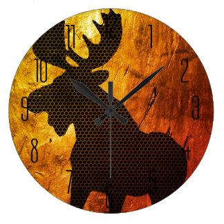 Moose on Gold Clock 1