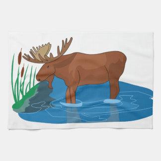 Moose on The Loose Tea Towel