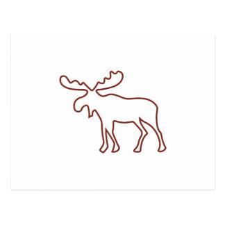 Moose Outline Postcard