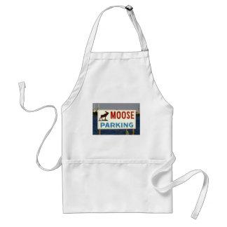 Moose Parking Sign Apron
