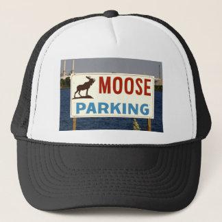 Moose Parking Sign Hat
