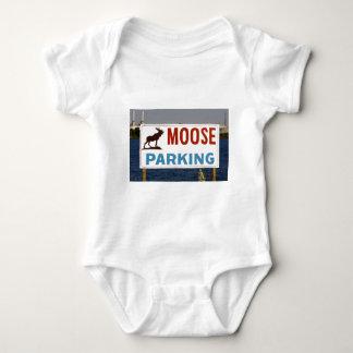 Moose Parking Sign Infant's Clothing Baby Bodysuit