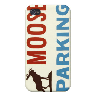 Moose Parking Sign iPhone Case