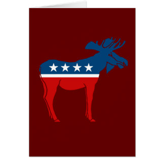 MOOSE PARTY GREETING CARD