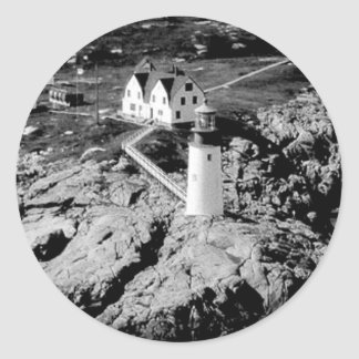 Moose Peak Lighthouse Round Sticker