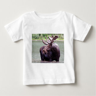 Moose Profile Baby T-Shirt