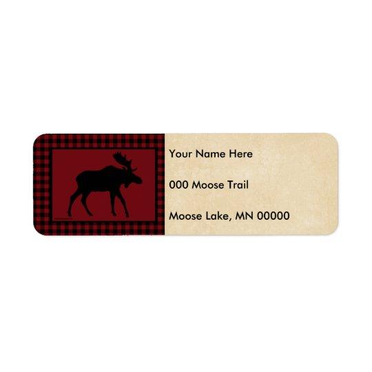 Moose Red Black Check Tan
