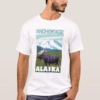 Moose Scene - Anchorage, Alaska T-Shirt