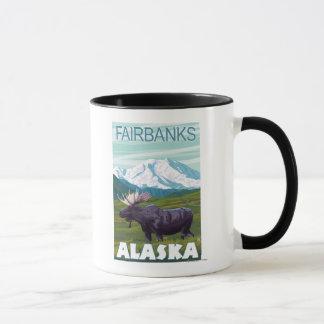 Moose Scene - Fairbanks, Alaska Mug