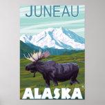 Moose Scene - Juneau, Alaska Print