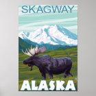 Moose Scene - Skagway, Alaska Poster