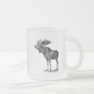 Moose Shirts and Gifts 122 Frosted Glass Coffee Mug