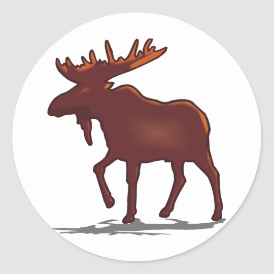 Moose Shirts and Gifts 129 Classic Round Sticker