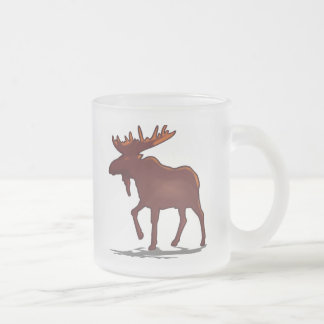 Moose Shirts and Gifts 129 Frosted Glass Coffee Mug