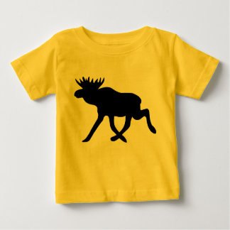 Moose Silhouette Baby T-Shirt