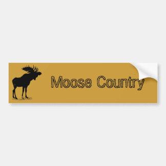 Moose Silhouette Car Bumper Sticker