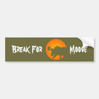 Moose Silhouette Bumper Sticker