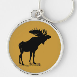 Moose Silhouette Keychain