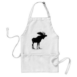 Moose Silhouette Standard Apron