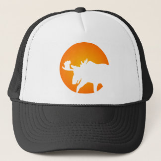 Moose Silhouette Trucker Hat
