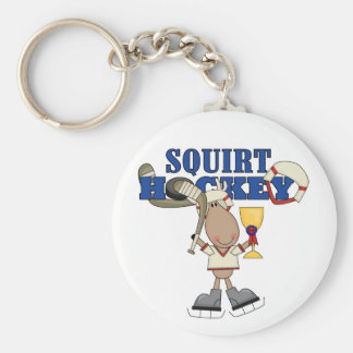 Moose Squirt Hockey Champ Tshirts and Gifts Basic Round Button Key Ring