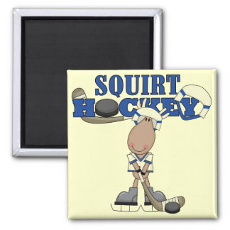 Moose Squirt Hockey Tshirts and Gifts Magnet