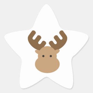 Moose Star Sticker