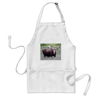 Moose Stare Down Apron
