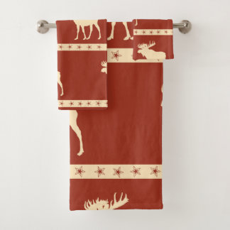 Moose Stars Bath Towel Set