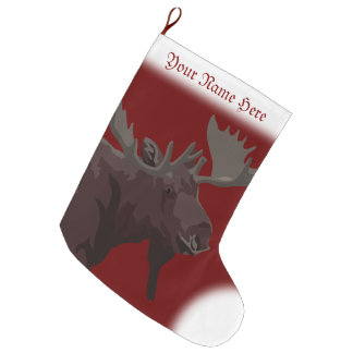 Moose Stocking Moose Christmas Stocking Custom