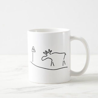 moose Sweden Norway warning Coffee Mug