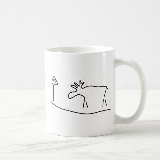 moose Sweden Norway warning Coffee Mug