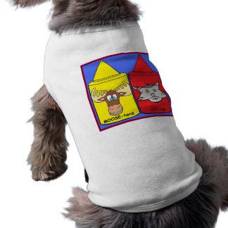MOOSE-tard and CAT-sup Sleeveless Dog Shirt