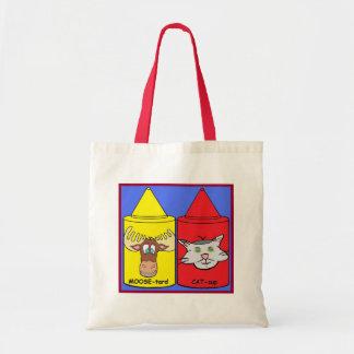 MOOSE-tard and CAT-sup Tote Bag