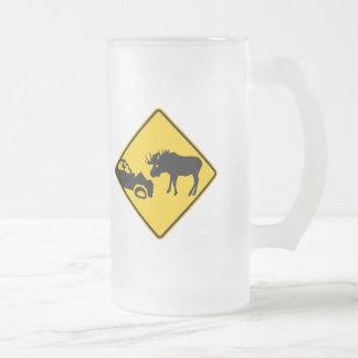 Moose Warning Sign from Gros Morne National Park Mug