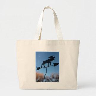 Moose weathervane jumbo tote bag