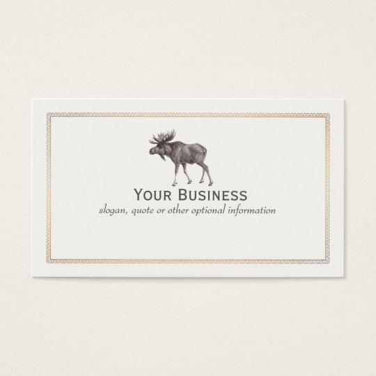 Moose Wilderness Sportsman  Business Card