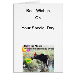 Moose wishes on your birthday card