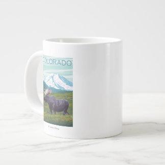 Moose with MountainColorado Giant Coffee Mug