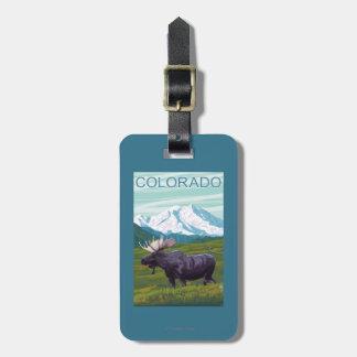 Moose with MountainColorado Luggage Tag