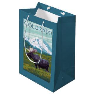 Moose with MountainColorado Medium Gift Bag