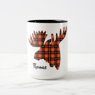 Moosehead Buffalo Plaid Lumberjack Two-Tone Coffee Mug