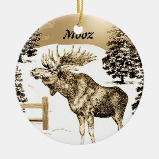 MOOZ ~ Moose Ornament