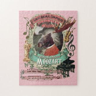 Moozart Great Animal Composer Mozart Parody Jigsaw Puzzle