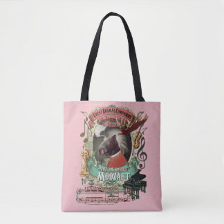 Moozart Moose Animal Composer Mozart Parody Tote Bag